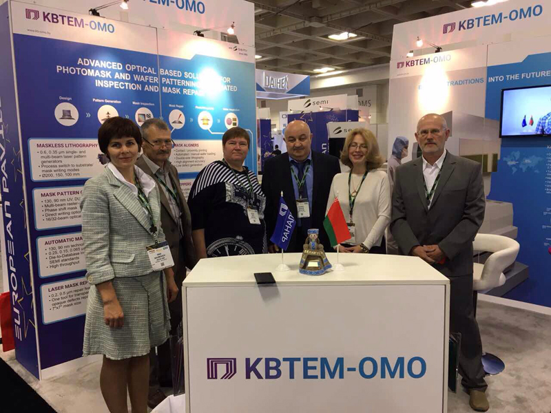 First day at KBTEM-OMO booth at SEMICON West 2017