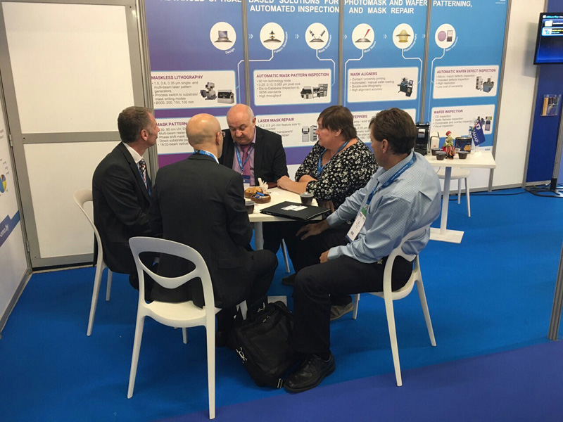 First day at KBTEM-OMO booth at SEMICON Europa 2016